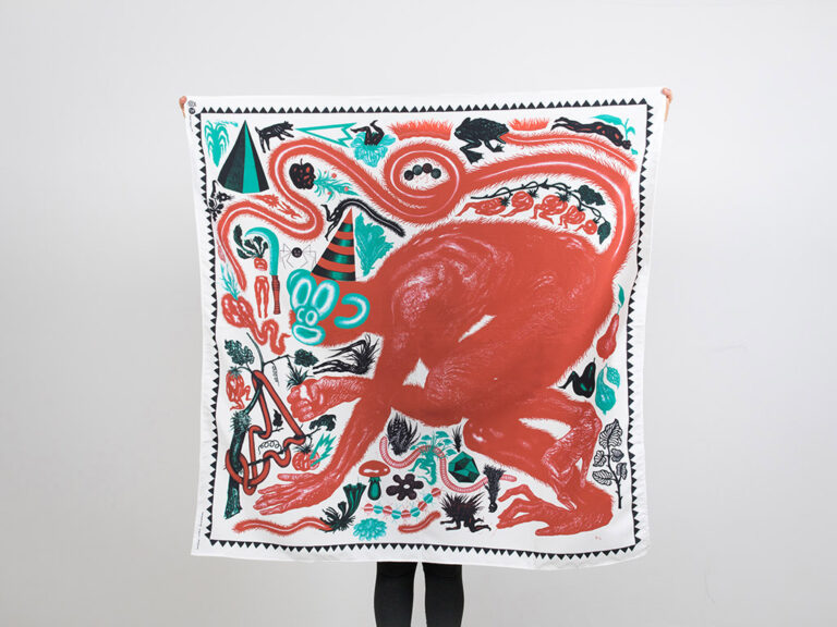 Gluppa tessuto d'artista Nicola Alessandrini limited edition